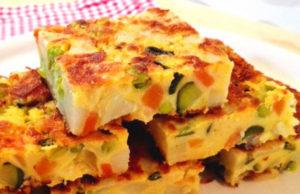 tortilla légère aux légumes WW