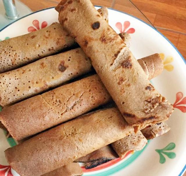Crêpes légères à la farine complète