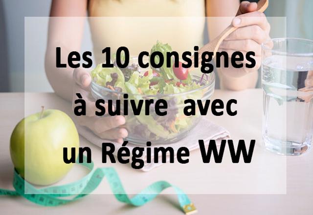 Les 10 consignes à suivre avec un Régime WW