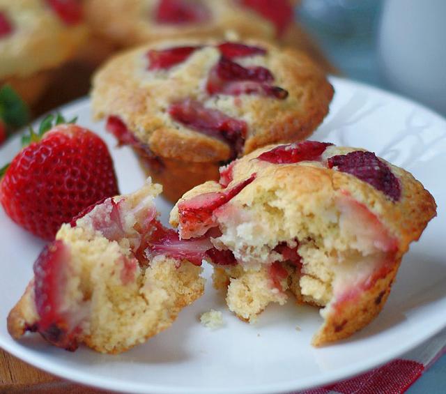 Muffins Légers aux Fraises WW