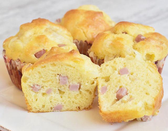 Muffins au fromage et au jambon WW