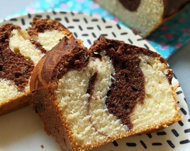 Cake léger marbré Choco-Vanille