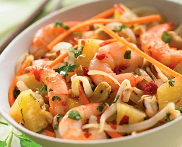 Salade Thaïlandaise aux Crevettes