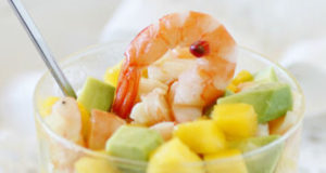 Tartare crevette avocat mangue WW, un bon tartare léger à base de crevette, d'avocat et de mangue facile à faire et parfait pour une entrée tout en fraîcheur.