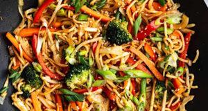 Wok de Nouilles chinoises végétarien